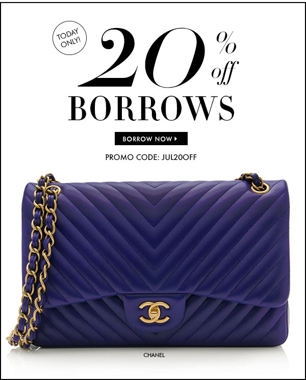 TODAY ONLY! 20% off BORROWS, Promo Code: JUL20OFF